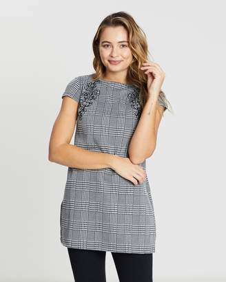 Dorothy Perkins Cap Embroidered Check Tunic