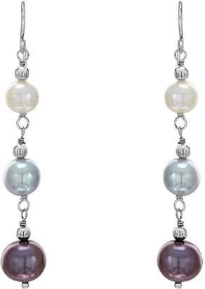 Honora Sterling Graduated Cultured Pearl DangleDrop Earrings