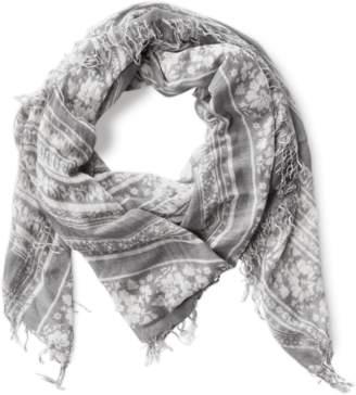 Chan Luu Floral Print Cashmere Silk Scarf