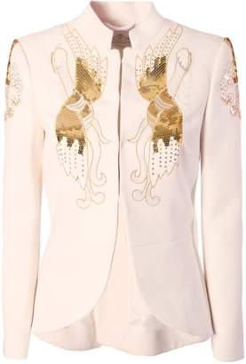 The Extreme Collection White Fiore Blazer