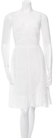 pradaPrada Pleated Sleeveless Dress w/ Tags