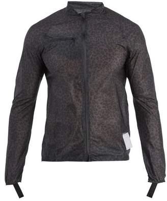 Satisfy - Strummer Leopard Print Running Jacket - Mens - Black Multi