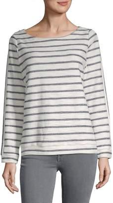Alexander Jordan Women's Stripe-Print Boatneck Top