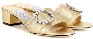 Jimmy Choo Granger 35 metallic leather slides