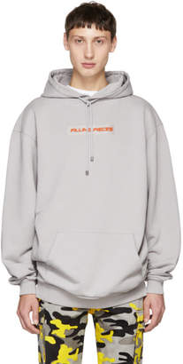 Filling Pieces Grey Logo Patch Hoodie