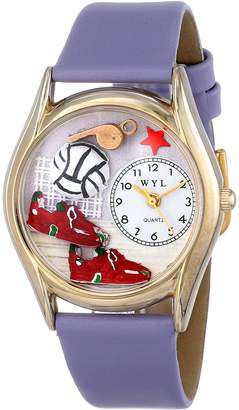 Whimsical Watches Kids' C0820021 Classic Volleyball Lavender Leather And tone Watch