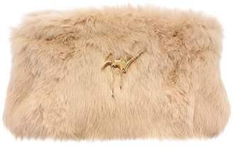 Giuseppe Zanotti Design Faux Fur Clutch