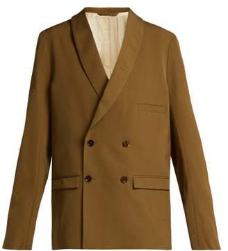 Lemaire - Double Breasted Crepe Blazer - Womens - Brown