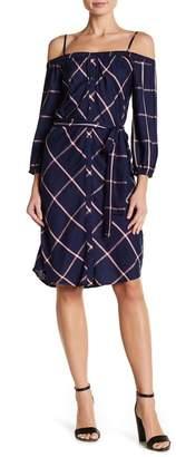 Splendid Riley Plaid Convertible Off-the-Shoulder Dress