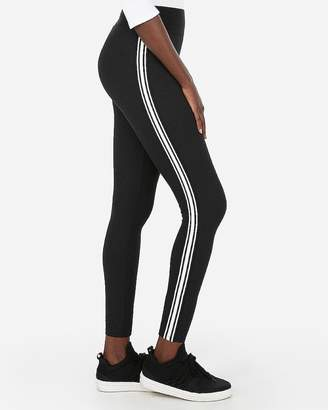 Express Petite High Waisted Ribbed Side Striped Supersoft Leggings
