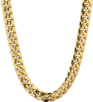 FINE JEWELRY Made in Italy 10K Gold 22 Inch Hollow Chain Necklace
