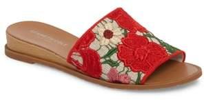 Kenneth Cole New York Joanne Flower Embroidered Slide Sandal