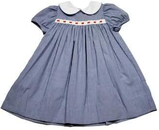 Lullaby Set Navy-Gingham Eyelet-Ribbon Dress