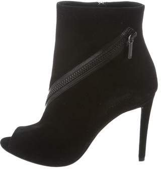 Christian Dior Suede Peep-Toe Ankle Boots w/ Tags
