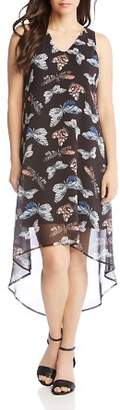 Karen Kane Butterfly Print High/Low Dress