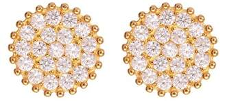 Argentovivo 18K Gold Plated Sterling Silver CZ Stud Earrings