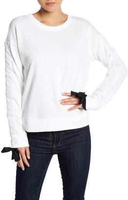 Cable & Gauge Ruched Sleeve Sweatshirt