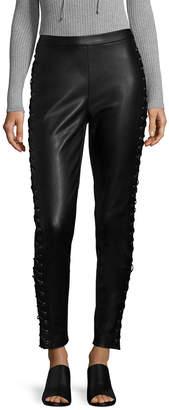 Bagatelle Lace-Up Leather Legging