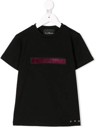 John Richmond Junior logo patch T-shirt