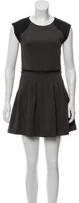Rebecca Taylor Pleated Mini-Dress