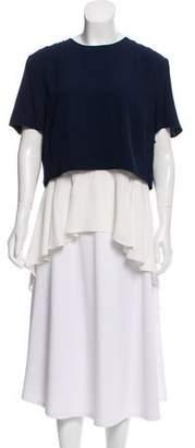Alexander McQueen Short Sleeve High-Low Tunic