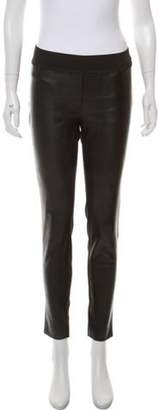 Stella McCartney Mid-Rise Vegan Leather Skinny Pants Black Mid-Rise Vegan Leather Skinny Pants