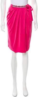 Blumarine Embellished Knee-Length Skirt