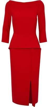 Roland Mouret Ardingly Off-The-Shoulder Crepe Peplum Dress