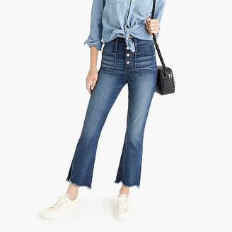 """Fly London Point Sur 10"""" high-rise demi-boot jean with button"""