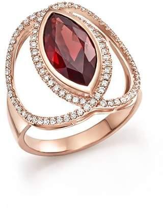 Bloomingdale's Rhodolite Garnet & Diamond Statement Ring in 14K Rose Gold - 100% Exclusive