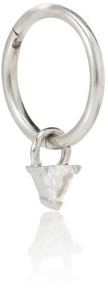 Maria Tash 18kt white gold single earring with diamond