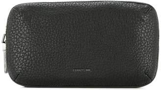 Cerruti double zip clutch bag