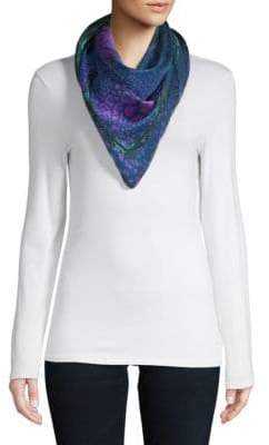 Versace Floral Silk Scarf