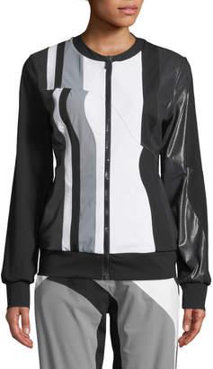 NO KA 'OI No Ka Oi Nola Colorblock Zip-Front Track Jacket