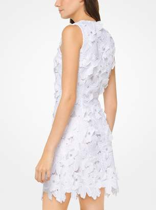 White dress with floral applique shopstyle at michael kors michael michael kors floral applique lace dress mightylinksfo