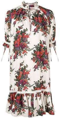 McQ vintage floral mini silk dress