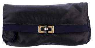 Lanvin Happy Popla Satin Clutch