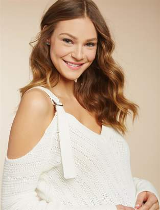 Jessica Simpson Motherhood Maternity Cold Shoulder Maternity Sweater