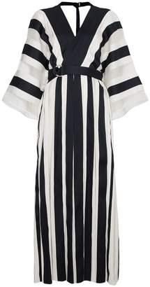 ADAM by Adam Lippes Silk Striped Kimono Dress