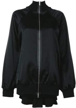 Maison Margiela pleated back satin bomber jacket