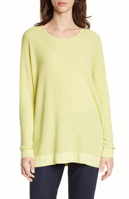 Eileen Fisher Organic Cotton Blend Thermal Top
