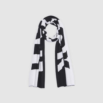 Sandro Wool and cashmere scarf with lettering