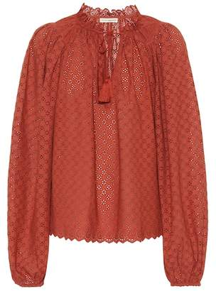 Ulla Johnson Siarah cotton eyelet lace blouse