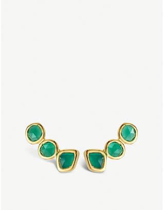 Monica Vinader Siren 18ct gold-vermeil climber earrings