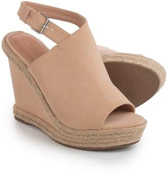 Yoki Wallis Wedge Sandals - Vegan Leather (For Women) $12.99 thestylecure.com