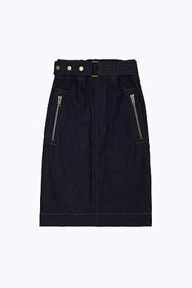 CONTEMPORARY Belted Denim Skirt