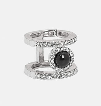 Avenue Mini Diamond Black Stone Stretch Ring