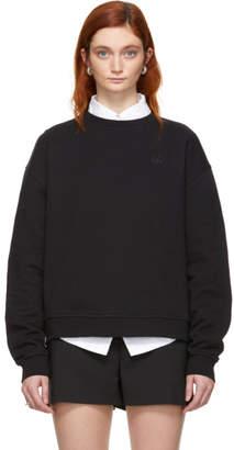 McQ Black Swallow Badge Slouch Sweatshirt