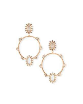 Kendra Scott Gareth Open Hoop Drop Earrings in Rose-Tone Plate