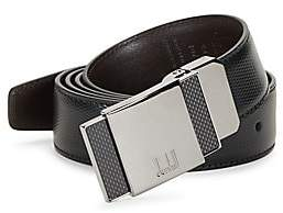 Dunhill Men's Reversible Leather Pin Buckle Belt